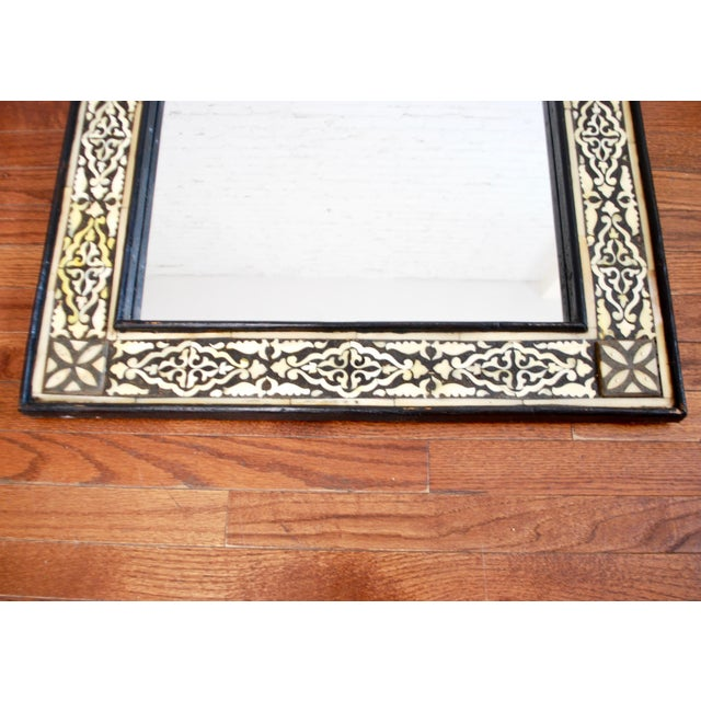 Moroccan Bone Inlaid Mirror For Sale - Image 4 of 4