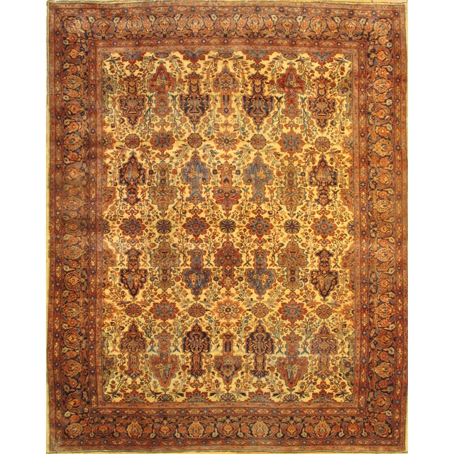 Pasargad Antique Persian Ferahan Rug - 10′ × 13′ For Sale