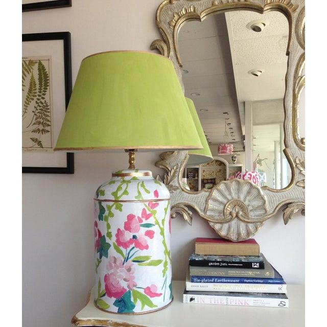 Dana Gibson Chintz Tea Caddy Lamp - Image 3 of 3