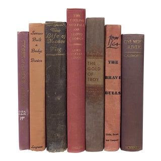 Vintage Pink and Purples Books - Set of 7 For Sale