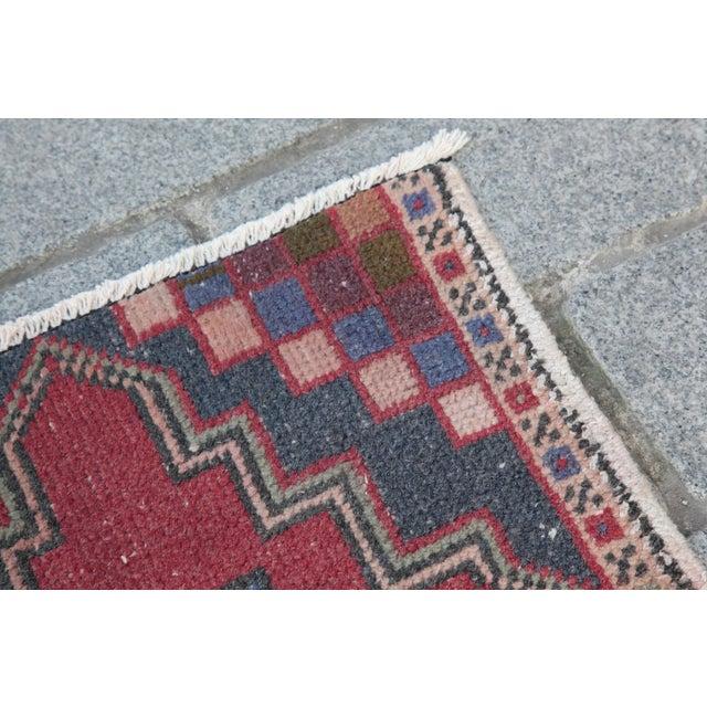 Turkish Nomadic Wool Carpet - 1′8″ × 2′10″ - Image 3 of 9