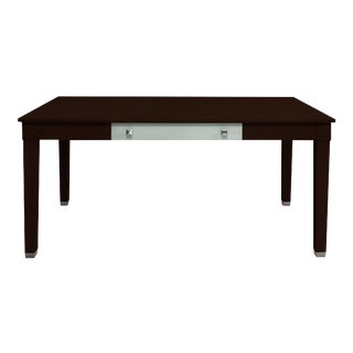 Boho Chic Dark Stained Writing Desk For Sale