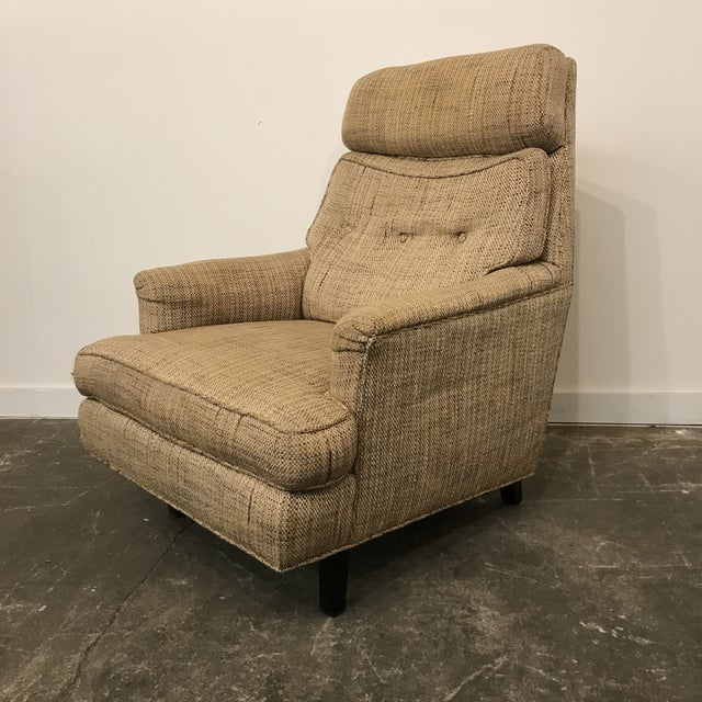 Tan Mid-Century Modern Dunbar High Back Club Chair For Sale - Image 8 of 8