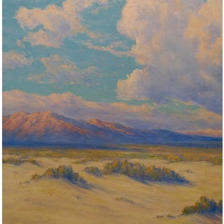 1920s Oil Painting, California Desert Landscape by Roi Clarkson Colman For Sale