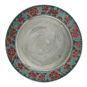 French Art Noveau Pewter Serving Plate
