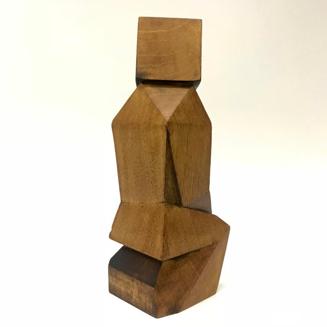Signed Cubist Abstract Figure Sculpture - Image 3 of 6