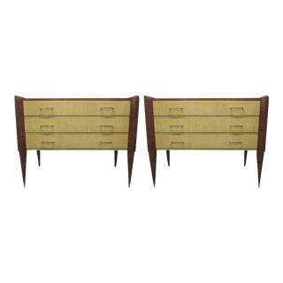 Pair of Mid Century Modern Italian Chests For Sale