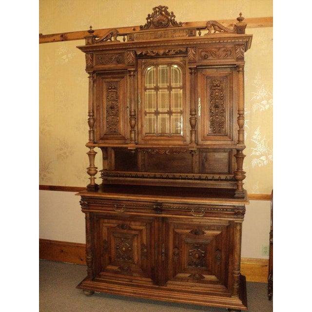 Antique Walnut Court Cabinet Cupboard - Image 2 of 7