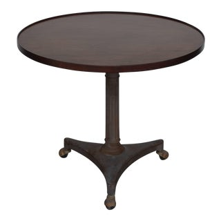 Chic Adjustable Height Cast Iron Industrial Gueridon For Sale