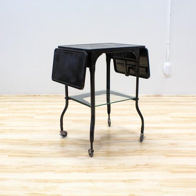 Black Industrial Bar Cart - Image 4 of 9