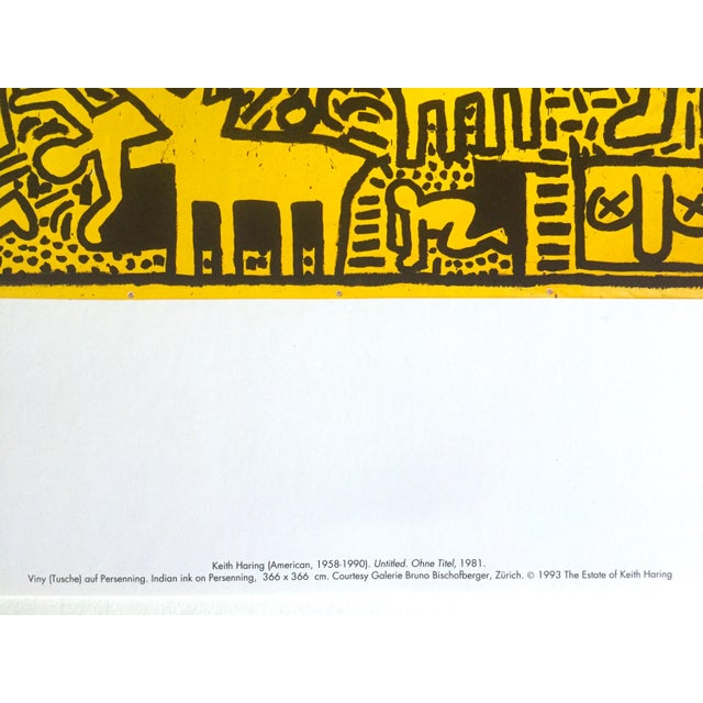 "1990s Keith Haring Estate Rare Vintage 1993 Collector's Pop Art Lithograph Print ""Yellow People"" 1981 For Sale - Image 5 of 8"
