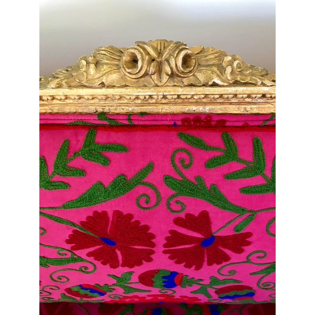 French Boho Settee For Sale - Image 9 of 13