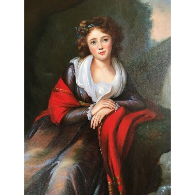 Vintage Oil Portrait of a Contessa For Sale - Image 5 of 11