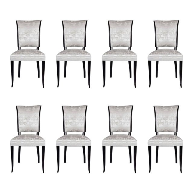 Set of Eight French 1940s Dining Chairs - Image 1 of 9