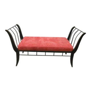 Solid Steel Brass Coated Settee For Sale