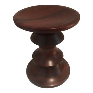 1970s Danish Modern Ray Eames Time Life Building Walnut Stool Table For Sale