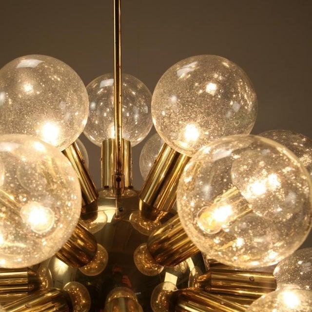 Brass One of Robert Haussmann Brass Sputnik Pendants Holding Twenty Eight Bulbs For Sale - Image 7 of 11
