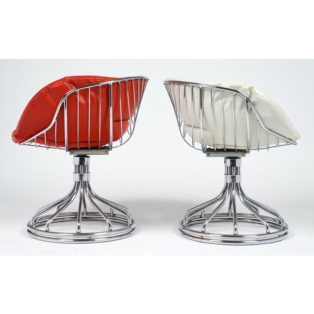 1970s Warren Platner Style Chrome Chairs - A Pair For Sale - Image 5 of 11