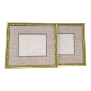 Metallic Frames With Original Matting - a Pair For Sale