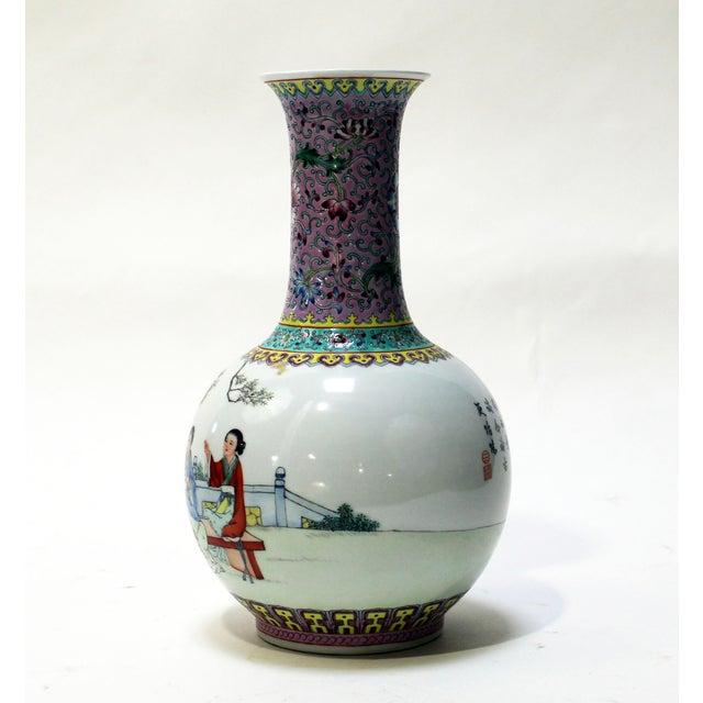 Chinese Bottle Shaped Porcelain Vase - Image 6 of 8