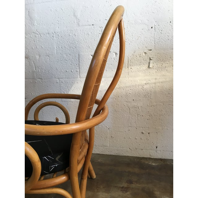 Vintage Mid Century Modern Bamboo Rattan Accent Chair. For Sale - Image 4 of 8
