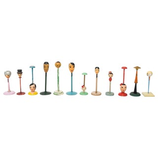 Set of Twelve Art Deco Hat Stands For Sale