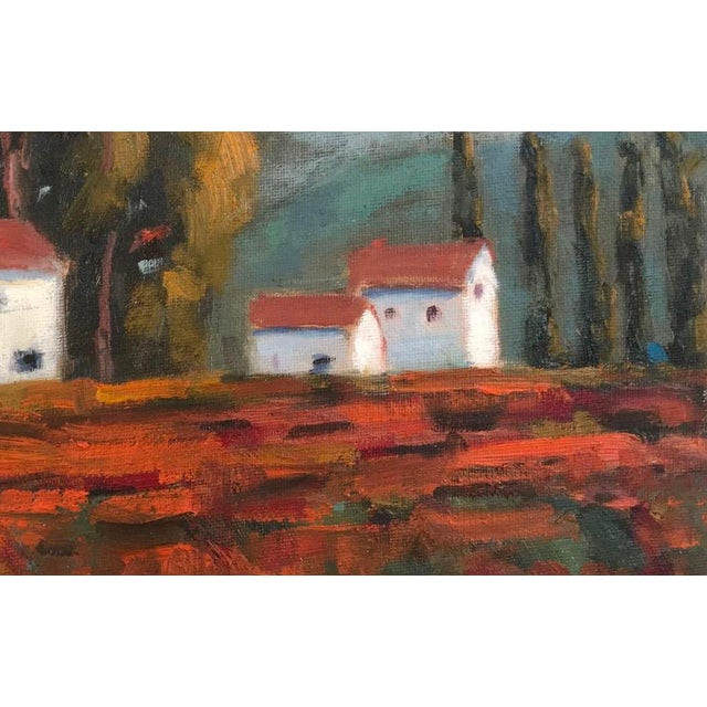 "English ""Fall Vines"" Plein Air Oil Painting For Sale - Image 3 of 7"