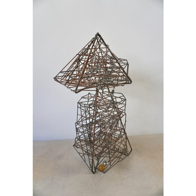 Black 1960s Abstract Guy Pullen Wire Sculpture For Sale - Image 8 of 8