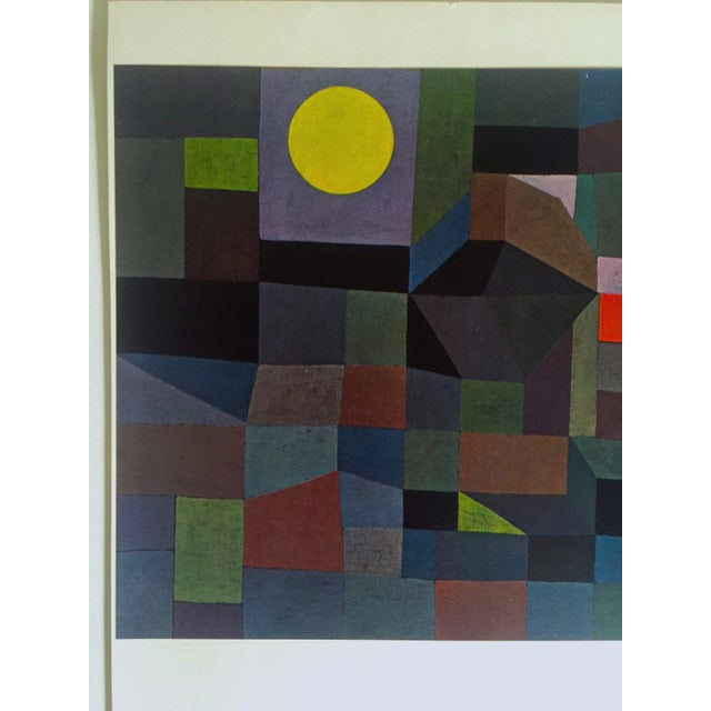 """Paul Klee Vintage 1967 Original Lithograph Print """"Fire at Full Moon"""", 1933 - Image 2 of 7"""