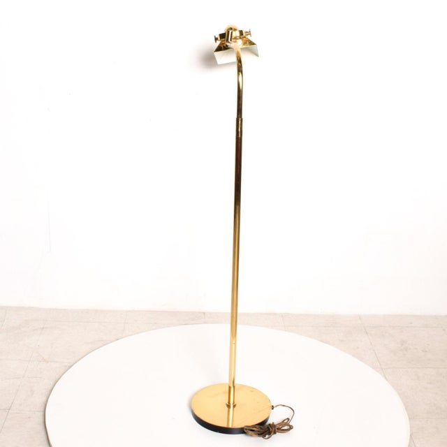 1980s Mid-Century Modern Brass Task Pharmacy Reading by Lamp Nessen For Sale - Image 5 of 11