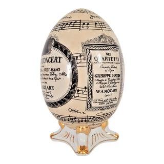 Fornasetti Style Ceramic Egg For Sale
