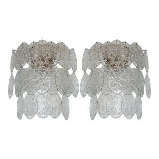 1960s Murano Sconces - a Pair For Sale