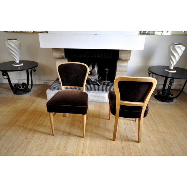 """Jean Royere Documented Pair of Chairs model """"Restaurant Drouant""""."""