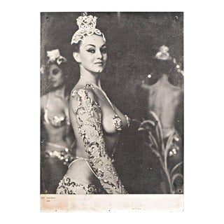 Vintage Mid-Century Peter Basch Parisian Latin Quarter Burlesque Black and White Photo Print For Sale