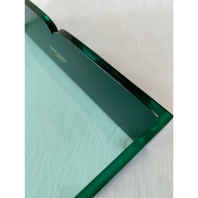 Kate Spade Green Lucite Desk Tray For Sale In Chicago - Image 6 of 11