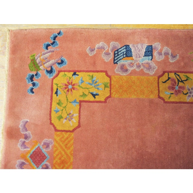 """Antique Chinese Art Deco Rug 6'8"""" X 9'0"""" For Sale In New York - Image 6 of 8"""