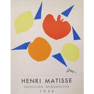 1956 Original Matisse Small French Exhibition Poster, Exposition Retrospective For Sale