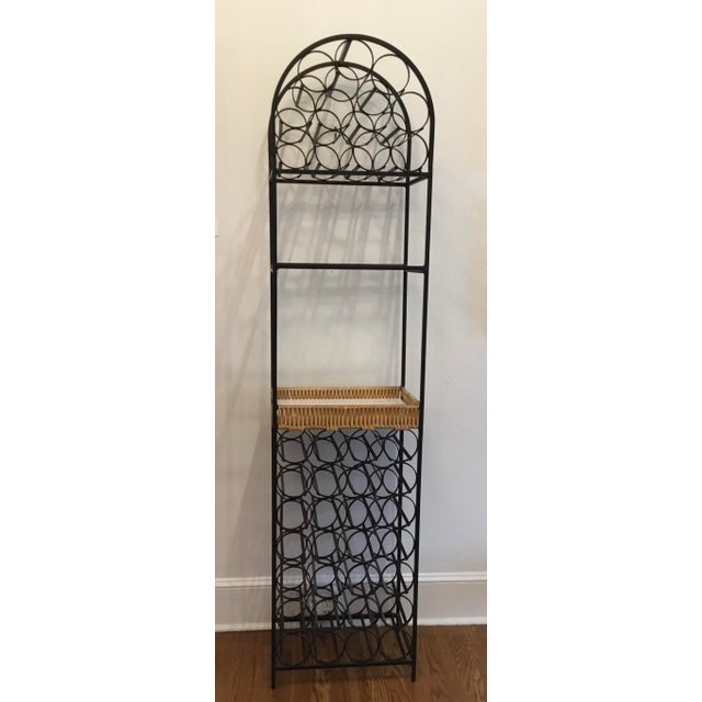 Mid-Century Modern 1950's wine rack designed by Arthur Umanoff, manufactured by Shaver Howard, USA. The wine rack consists...