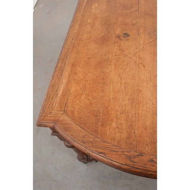 19th Century French Oak Sewing Table For Sale - Image 9 of 13