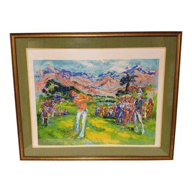 1970 Palm Beach Golf Classic, Fine Art Serigraph Silkscreen, Leroy Neiman Style by Mark King For Sale