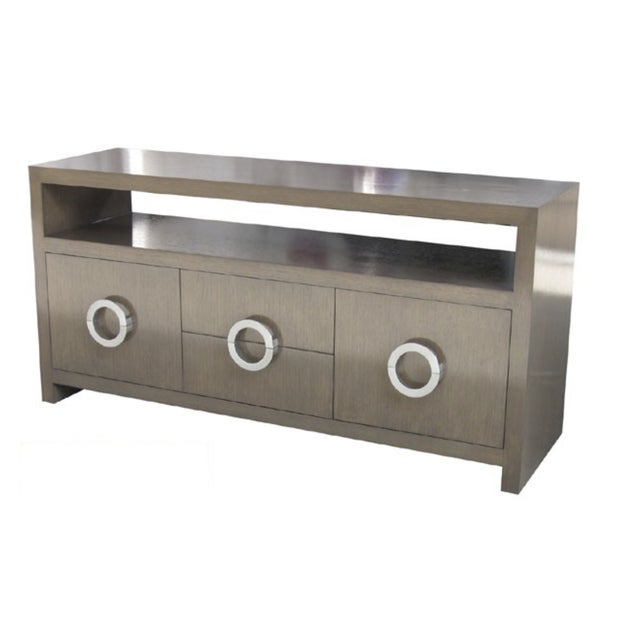 Custom Grey Wash Console - Image 9 of 9