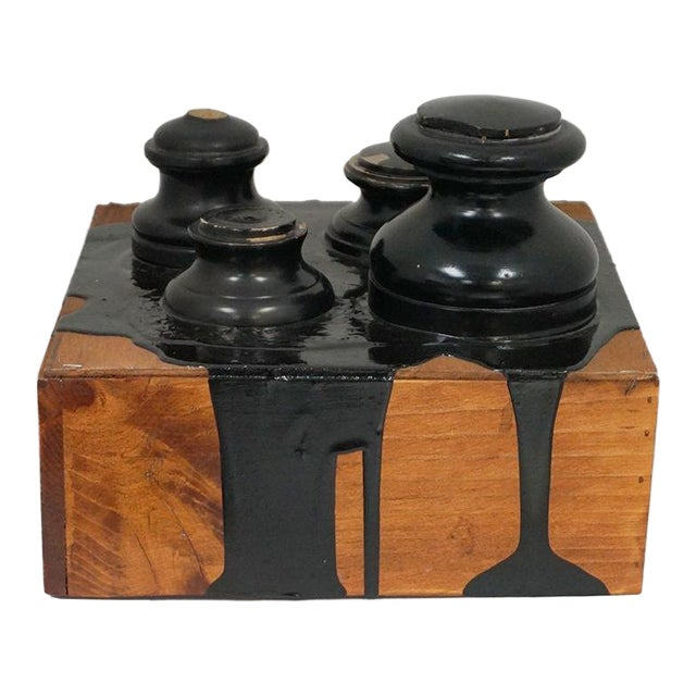 """Linda B. Fisher's """"Ink"""" Found Objects Assemblage For Sale"""
