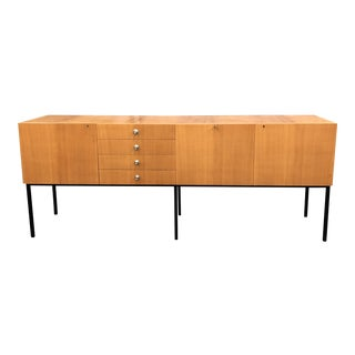 1950's French Sycamore Modernist Credenza by Alain Richard for Meuble For Sale