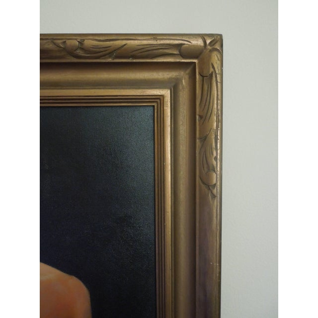 Mid-Century Modern Important Mid-Century Original Painting of a Man by Hollywood Portrait Artist For Sale - Image 3 of 8