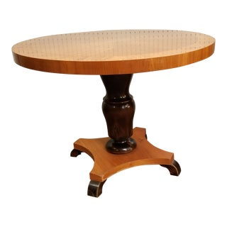 Antique Biedermeier Round Side Table For Sale