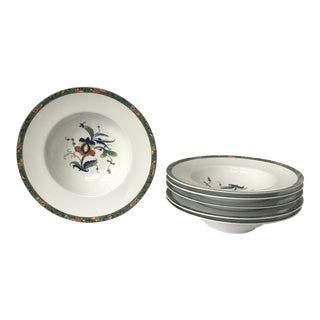 Raynaud Louviers Limoges Rim Bowls - Set of 6 For Sale