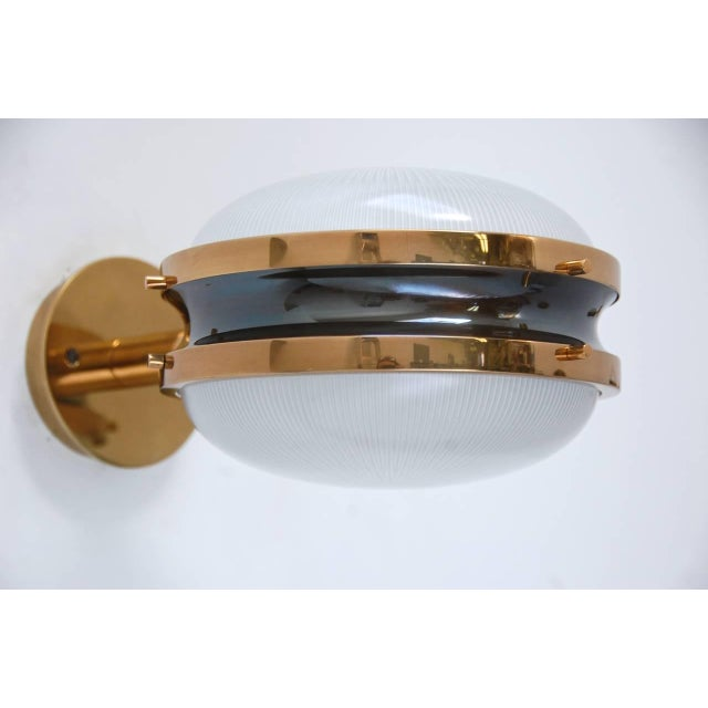 Brass Sergio Mazza Sigma Sconces For Sale - Image 7 of 11