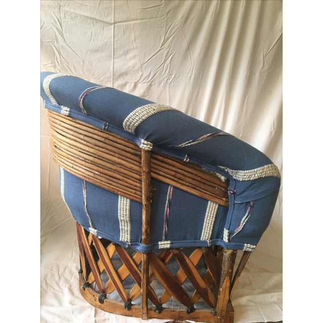 Vintage Mexican Upholstered Equipale Chair For Sale - Image 4 of 6