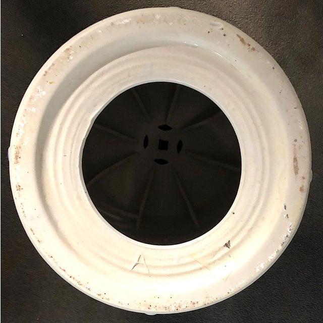White Chinese Blue/White Porcelain Garden Stool For Sale - Image 8 of 10