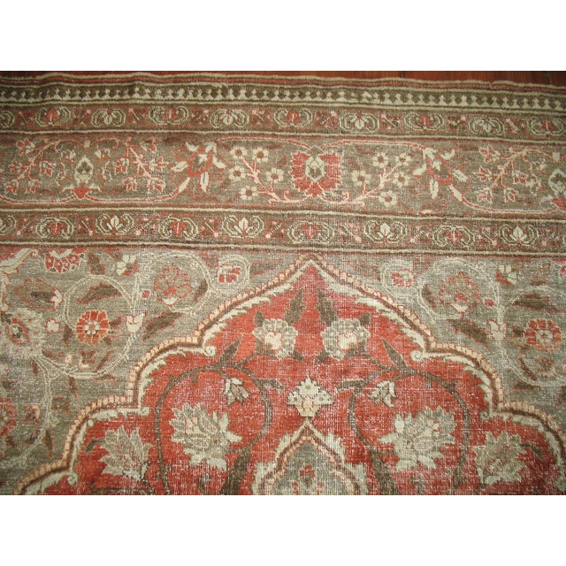 Islamic Shabby Chic Persian Tabriz Rug - 9′6″ × 12′8″ For Sale - Image 3 of 7